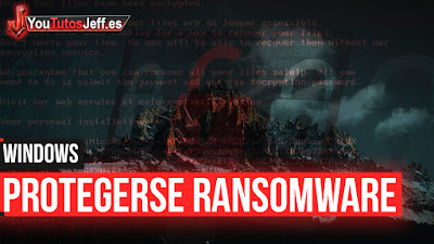 Ransomware, protegerse, windows