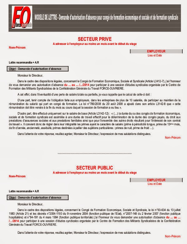 lettre administrative demande d inscription et d information