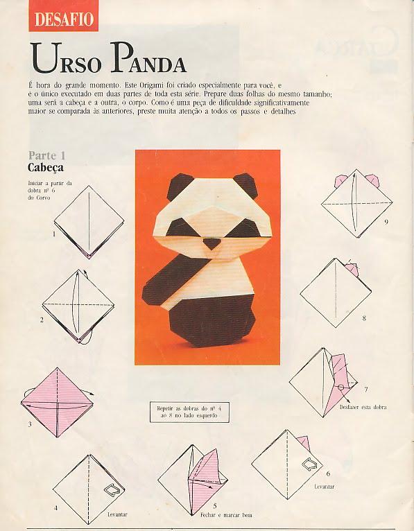 Como Fazer Origami De Urso Panda Atividades Para Colorir