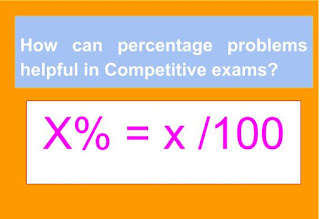 Percentage in Competitive exams