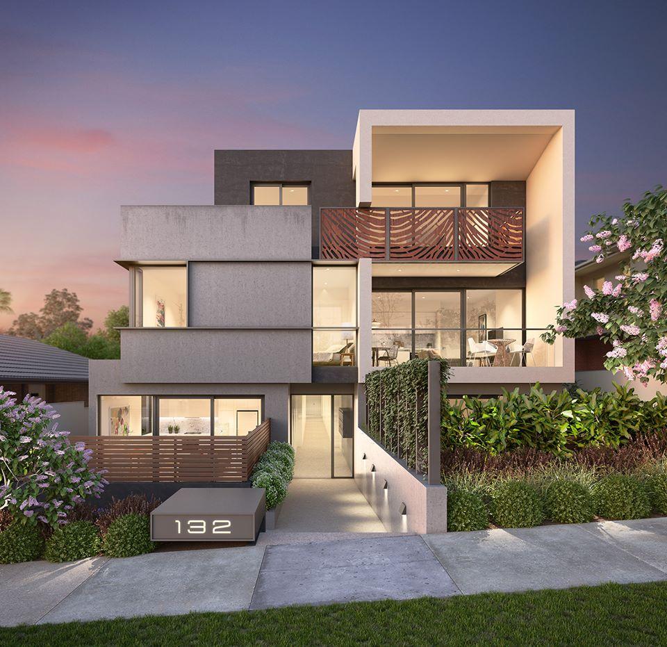 12 Desain Rumah Minimalis Modern 2 Lantai Mewah: 80 Desain Rumah Mewah Minimalis Modern 2 Lantai Model