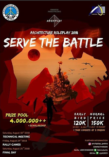 ARCHPLAY 2018, Event & Games Arsitektur SMA Sederajat di Univ. Kristen Petra