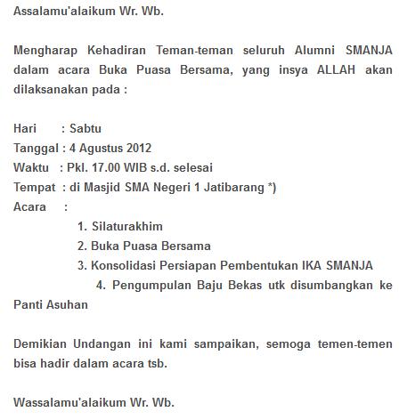 Ikatan Alumni Sman 1 Jatibarang Brebes Ika Smanja Undangan Buka