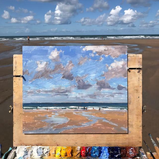 #362 'Sandymouth Beach 10×12″
