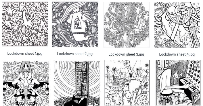 Lockdown Colouring Sheets By Pete Fowler Download For Free