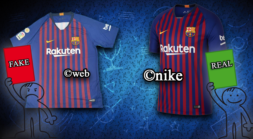the latest d1119 e9ad3 How To Spot Current & Classic Fake Football Kits | Detailed ...
