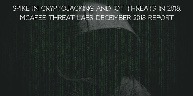 Spike in CryptoJacking and IoT threats in 2018 : McAfee Threat Labs December 2018 Report
