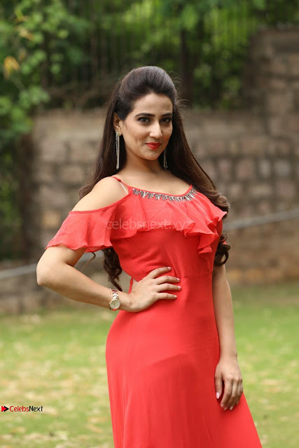 Manjusha looks super cute beautiful in Red Dress ~  Exclusive 006.JPG