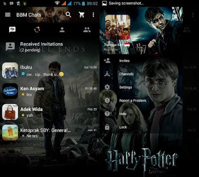 BBM MOD Tema Harry Potter v3.0.0.18 APK Terbaru