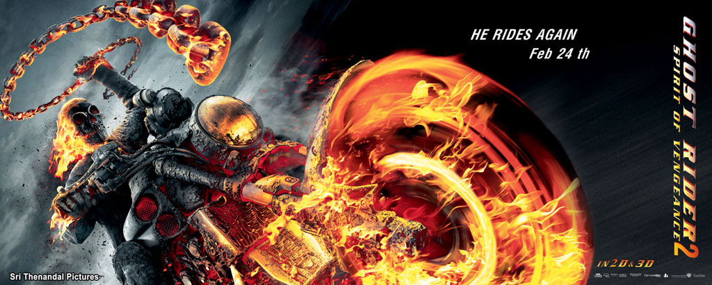 Hollywood Ghost Rider 2 Movie Tamil Wallposters