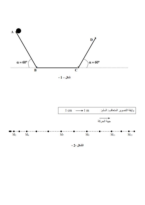 اختبار في الفيزياء للسنة الأولى ثانوي