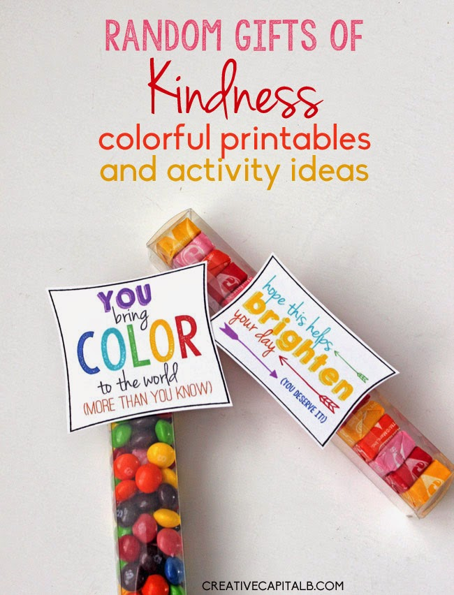 Capital B: Colorful, Random Gifts of Kindness with Starburst