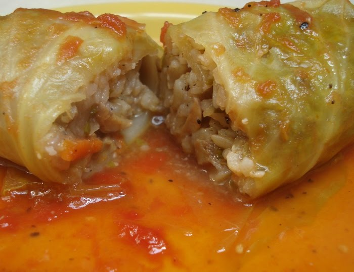 Eastern European Cuisine: LENTEN STUFFED CABBAGE – POSNA SARMA