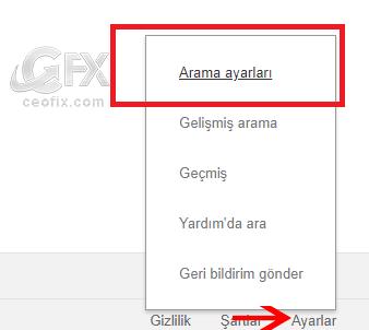 Google arama sonucu yeni sekmede açılsın - www.ceofix.com