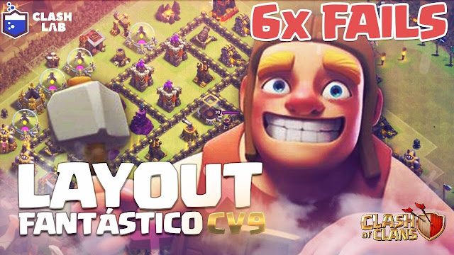 Layout para CV9 Anti-PT no Clash of Clans