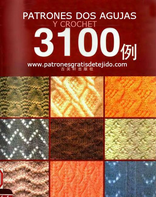 Libro de 3100 patrones de tejido en dos agujas y crochet