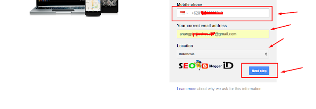 Langkah Ke dua Membuat email