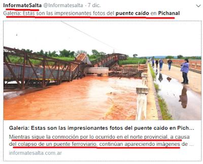 El puente caído del ingeniero macri