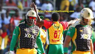 Jamaica Tallawahs vs Guyana Amazon Warriors live score