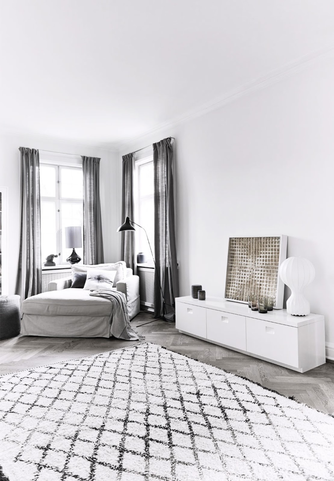 Her home is decorated with nordic and raw style where functionality and comfort meet aesthetics and design