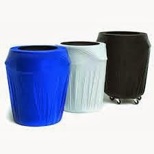 Blue, White and Black 55 Gallon Drum Covers