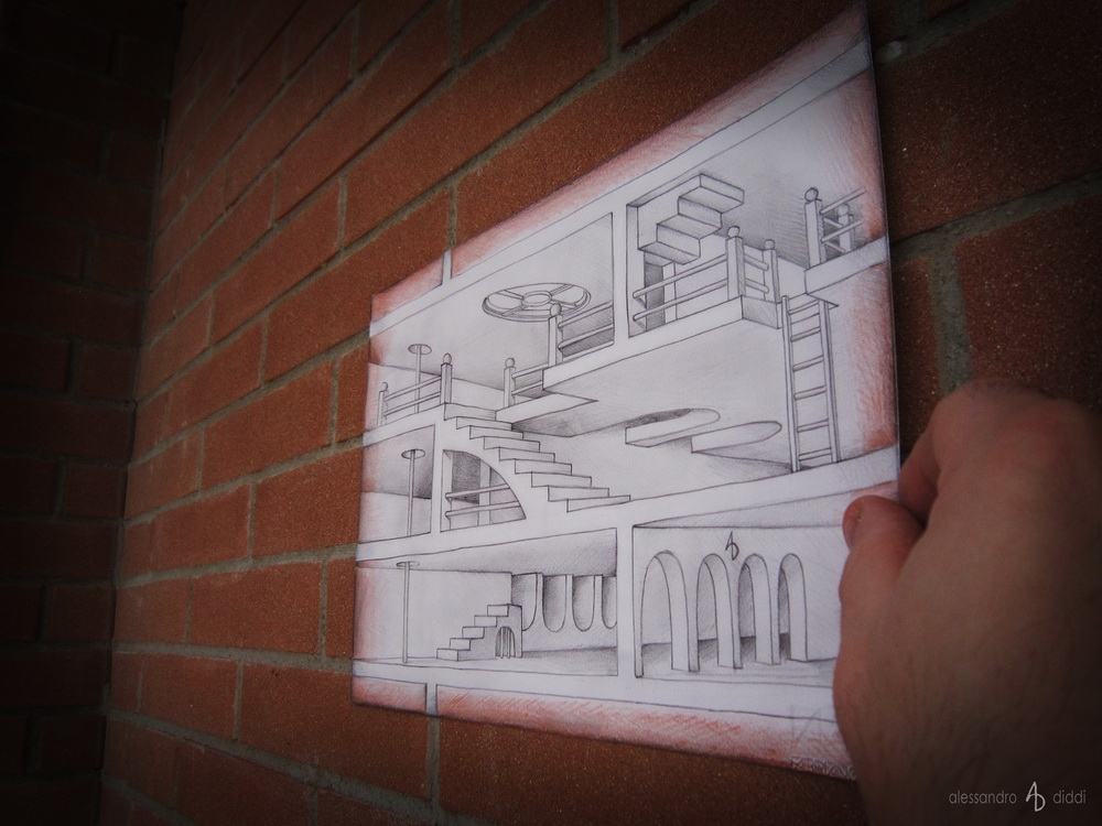10-Inside-the-Brick-Wall-Alessandro-Diddi-Anamorphic-Optical-Illusions-that-look-like-3D-Drawings-www-designstack-co