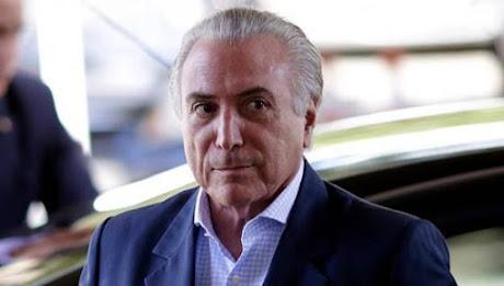 Michel Temer é o presidente em exercício do Brasil