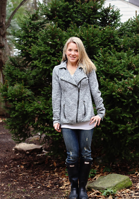 stitch fix Market & Spruce Elissa French Terry Moto Jacket heather grey