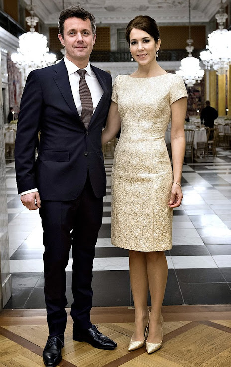 Crown Prince Frederik and Crown Princess Mary  held a dinner at the Christiansborg Palace
