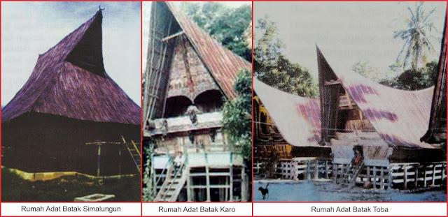 gambar rumah adat suku batak sumatera utara