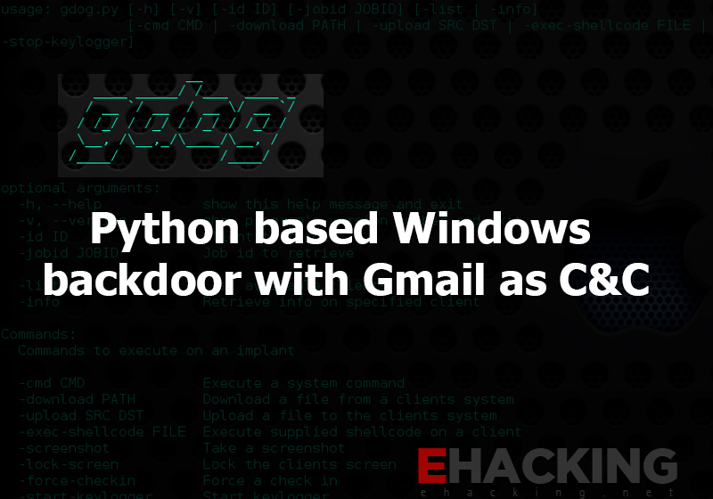 Python based Windows backdoor with Gmail as C&C - The World