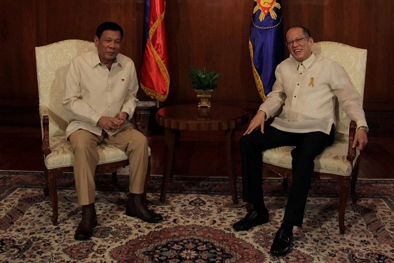 Transfer of power: Both Aquino and Duterte are undergoing through their respective transitions