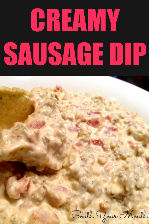Classic party dip recipe made with Rotel tomatoes, sausage and cream cheese served with tortilla chips perfect for tailgating and game day!