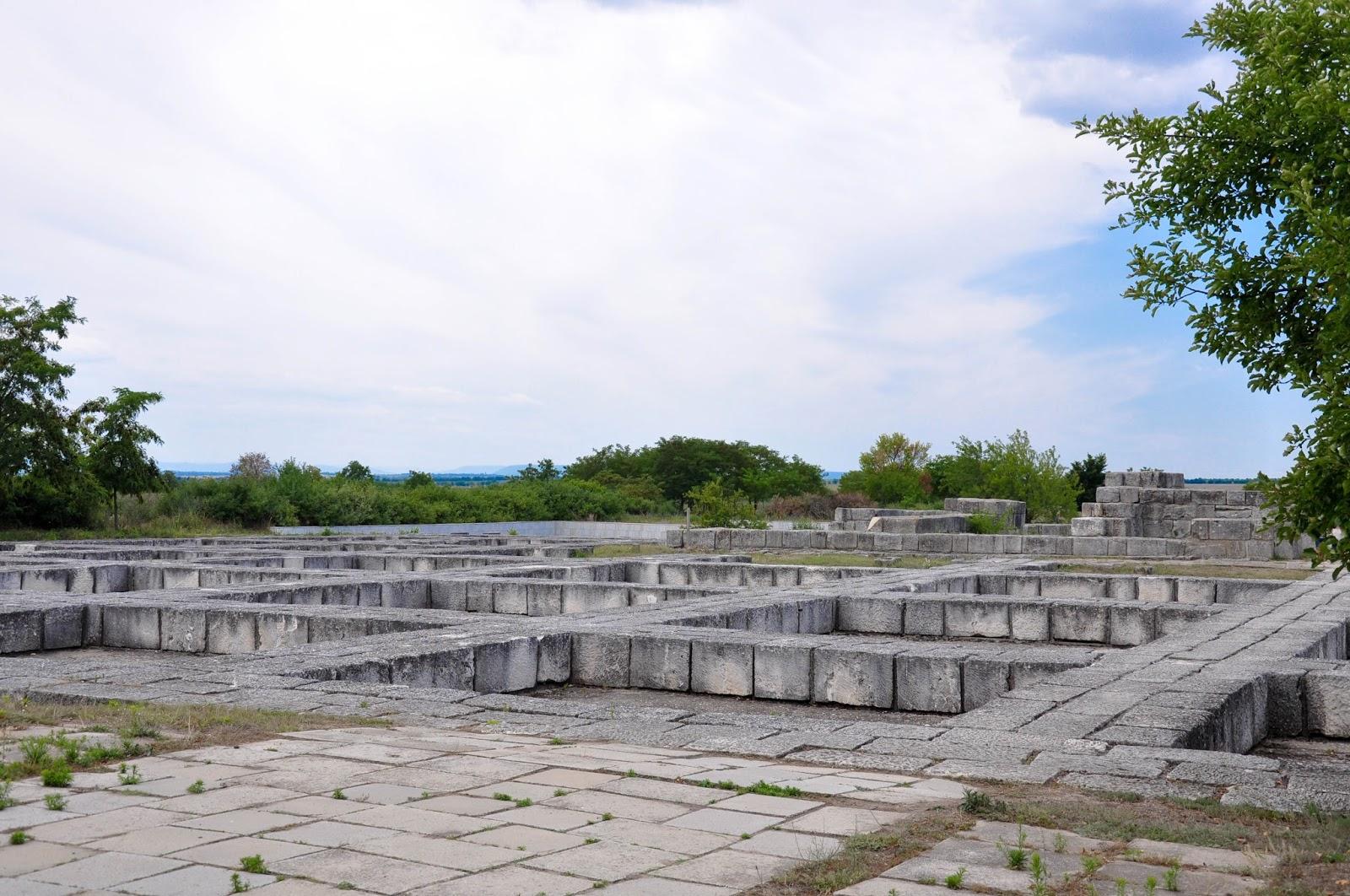 The representative palaces, Pliska, Bulgaria
