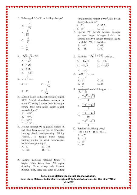 Kumpulan Soal Pangkat Dan Akar Kelas 9 Smp Doc : kumpulan, pangkat, kelas, Contoh, Perpangkatan, Bentuk, Kelas, Kurikulum, Soal-Soal