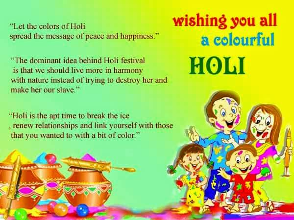 Happy Holi Graphics Scraps Images Ecards for Whatsapp & Facebook