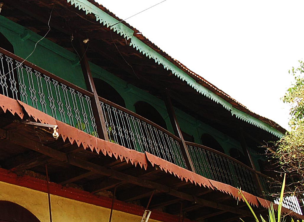 Stock Pictures: Balcony and railing designs of old Pune ...