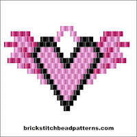 Christmas brick stitch bead weaving earring pattern color chart