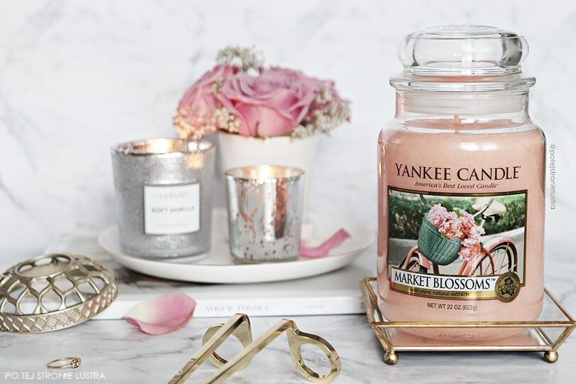opinie o świecy yankee candle market blossoms