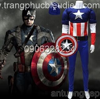 cho thuê trang phục captain america