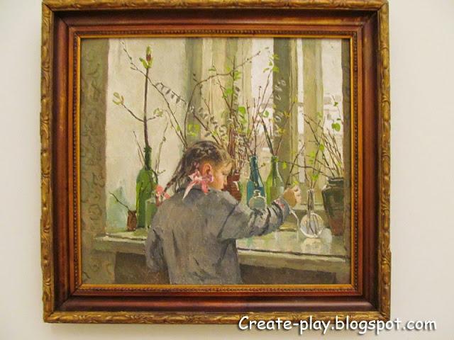 """картина Яблонской """"На окне весна"""""""