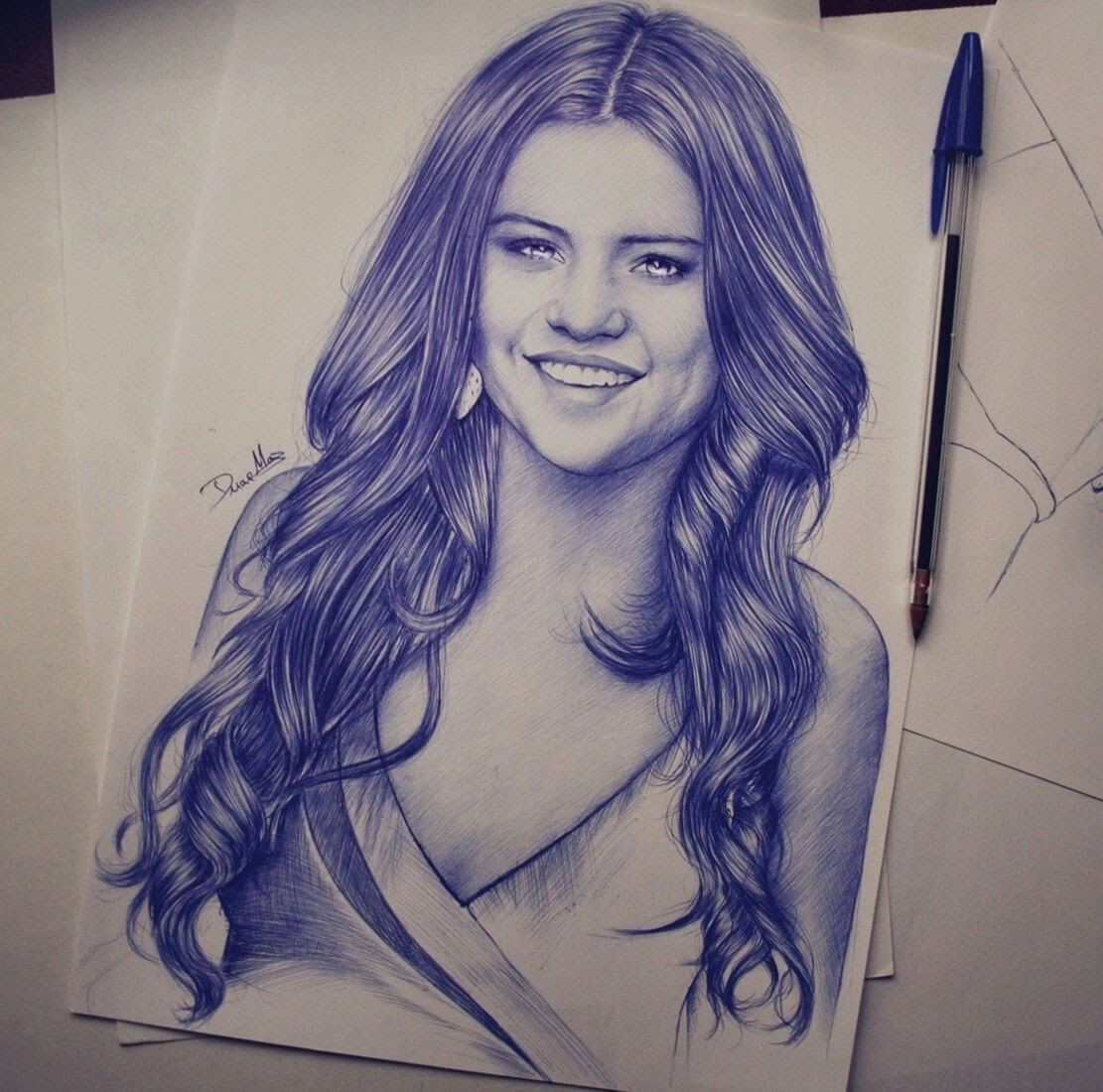 09-Duae-Maz-Blue-and-Black-Ballpoint-Pen-Portraits-www-designstack-co