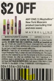 $2.00/1 Maybelline coupon