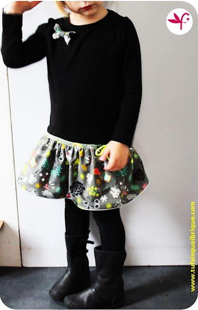 Robe Tee-Shirt Automne - Portée