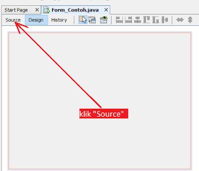 2 - Tutorial Java Netbeans – Cara Biar Posisi Form Ditengah Layar Ketika Runing