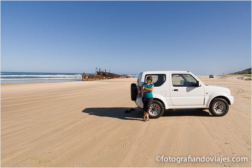 playa de arena en Fraser