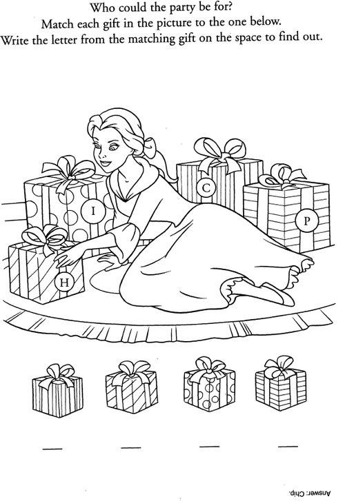 princess belle coloring pages games - photo#37