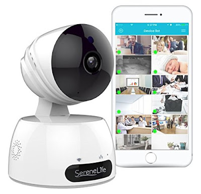 Indoor Wireless IP Camera - HD 720p Network Security Surveillance Home Monitoring Featuring Motion Detection, Night Vision, PTZ, 2 Way Audio,
