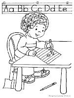 Mewarnai Hari Pendidikan Nasional Gambar Anak Tk Bersekolah Tentang Kemerdekaan