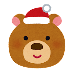 クリスマスの顔マーク(クマ)